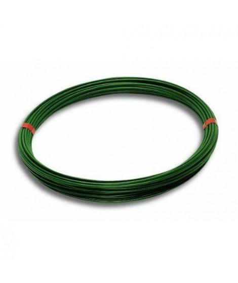 Fil de tension - Acier plastifié - L 100 m - Extérieur Ø 2,7 mm - Vert