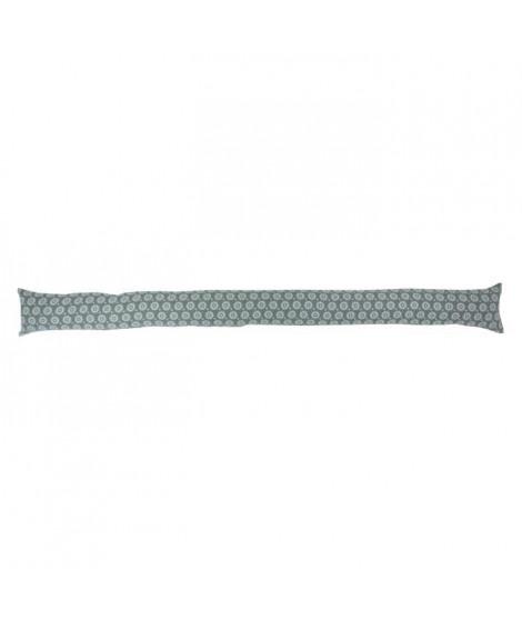 Boudin de porte 100% coton imprimé SUNFLOWER - 90x10 cm - Gris