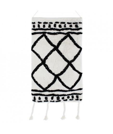 Tissage / Suspension murale berbere Losange - 40 x 80 cm  -Blanc écru