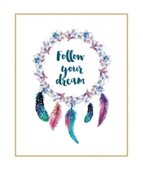 Image encadrée Your Dream - Imprimée haute définition puis laminée sur MDF - 40x50 cm - Naturel