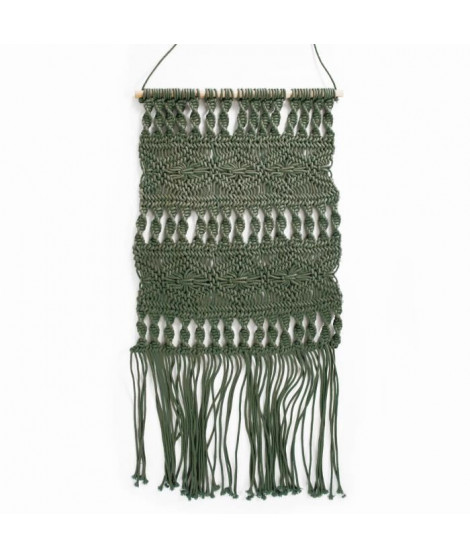 Tissage / Suspension murale Macrame - 45 x 50 cm - Vert clair