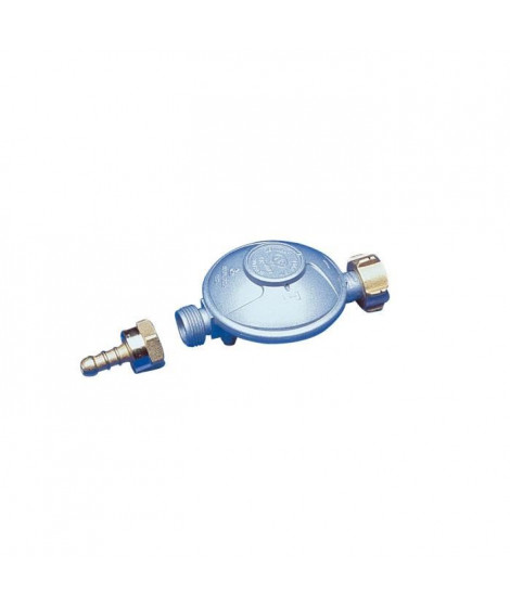 DIPRA Détendeur butane NF + raccord tétine 1.3kg/h - 28mbar - Ecrou bouteille