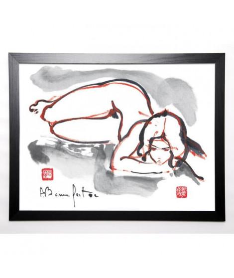 BONNEFOIT ALAIN Image encadrée Loeren 57x77 cm Blanc