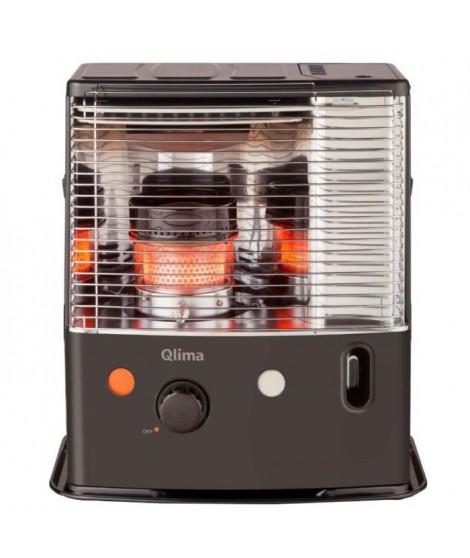 QLIMA R7224-SC - 2400 watts - Poele a pétrole  a meche - jusqu'a 85 m3 - Detecteur CO² - Réservoir 4,2 litres