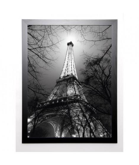 CARRARA ANTOINE Image encadrée Sa Majesté La Tour Eiffel 67x87 cm Gris