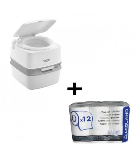 THETFORD Porta Potti Qube PP 165 WC Chimique Portable + Papier toilette WC chimique 12 rouleaux