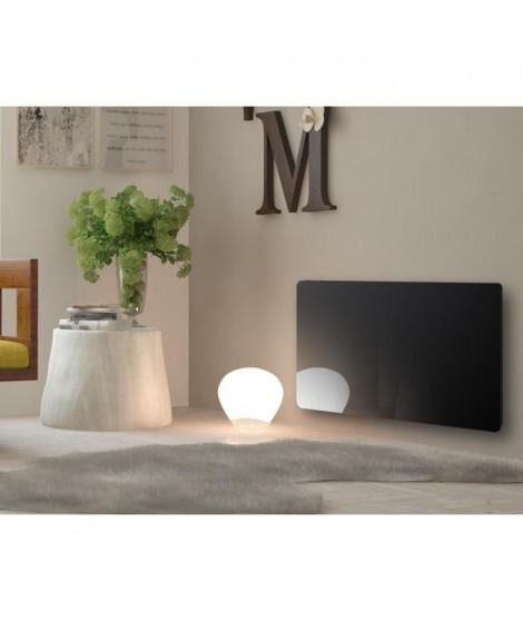 CARRERA Radiateur panneau rayonnant électrique Klaas - Programmable - LCD - 1000 W - Verre noir