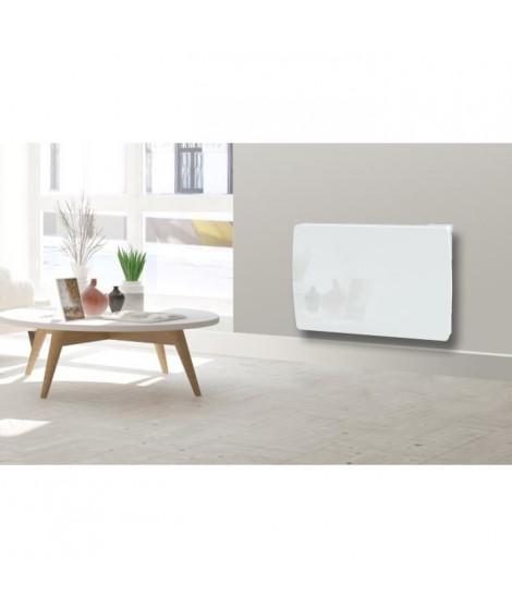 CARRERA Jarpa 1000 watts Radiateur électrique a inertie céramique - Programmable - LCD - Façade en verre blanc