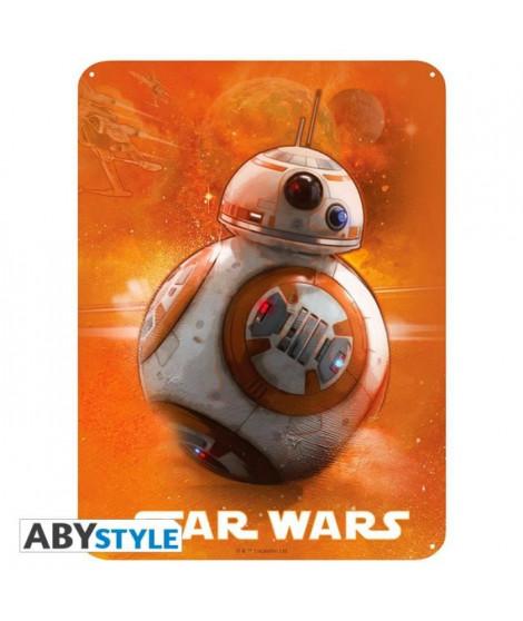 Plaque en métal Star Wars - BB8 (28x38) - ABYstyle