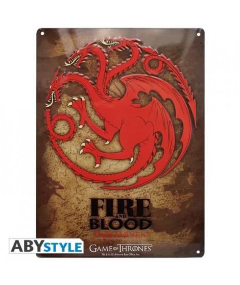Plaque en métal Game Of Thrones - Targaryen (28x38) - ABYstyle