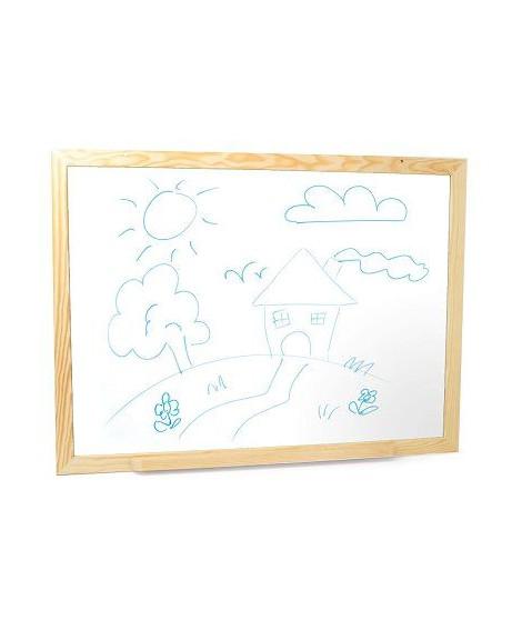 JEUJURA Grand tableau feutre et magnetique en bois - 88 x 66 cm