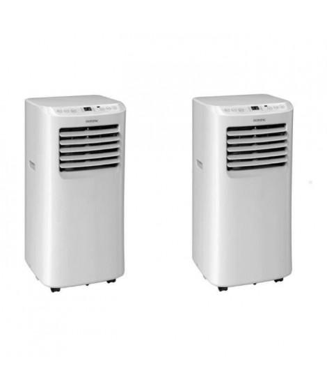 OCEANIC Pack de 2 climatiseurs mobiles 2050 watts - 7000 BTU - Programmable - Classe énergétique A