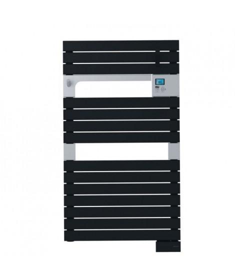 SAUTER Asama Radiateur Seche-serviettes électrique - 500 watts - LCD - Programmable - Barres plates - Noir anthracite