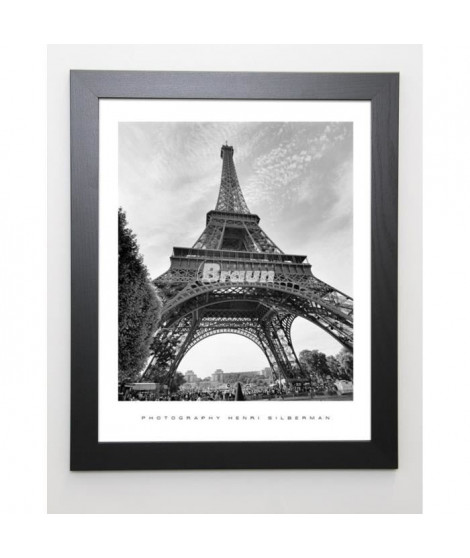 SILBERMAN Image encadrée La Tour Eiffel, Paris - 47x57 cm - Gris