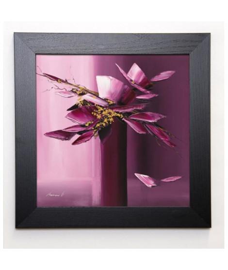 TRAMONI OLIVIER Image encadrée Pour elle 37x37 cm Violet