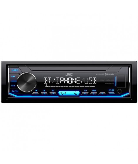 JVC Autoradio KD-X351BT - Bluetooth - Iphone - Android - Illumination bleue