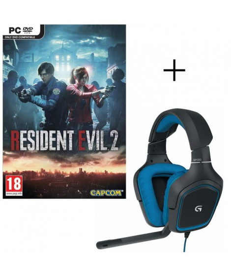 Resident Evil 2 Jeu PC + LOGITECH Micro-Casque Gamer G430