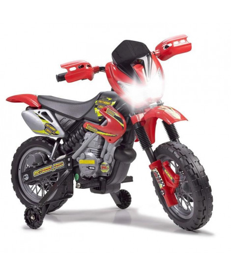 FEBER - Moto Cross 400F - Véhicule Electrique pour Enfant 6 Volts