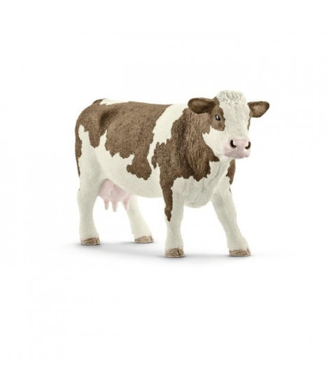 Schleich Figurine 13801 - Animal de la ferme - Vache Simmental