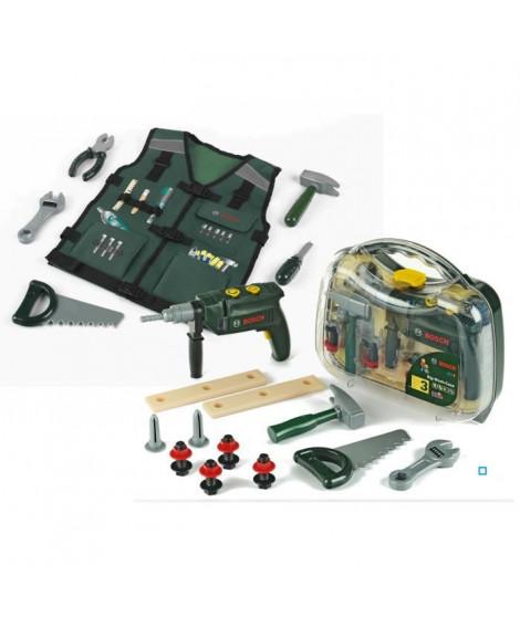 BOSCH - Pack Bricoleur Mallette outils et Gilet Bricoleur