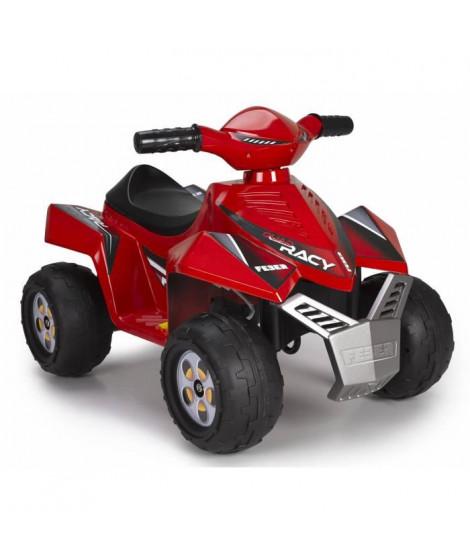 FEBER - Quad Racy Rouge - Véhicule Electrique pour Enfant 6 Volts