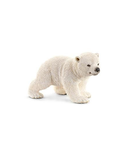 Schleich Figurine 14708 - Animal sauvage - Ourson polaire, marchant
