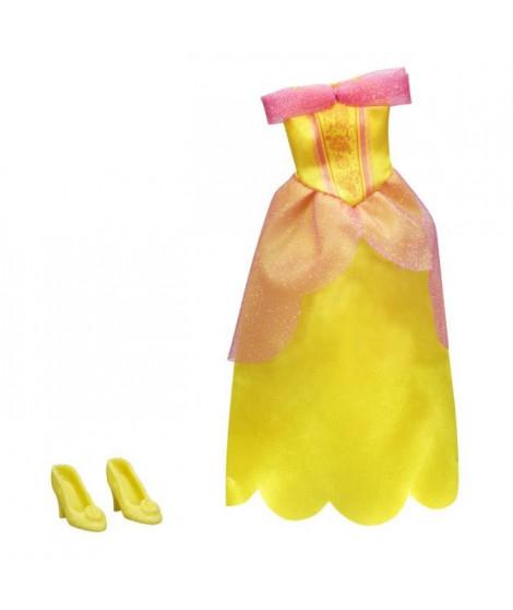 DISNEY PRINCESSES - Robe et Chaussures JAUNE - Vetement pour Poupées 30cm