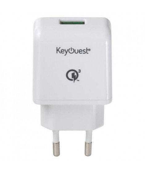 Keyouest 2,4 A - Charge ultra rapide Qualcomm Quick Charge 3.0 TM - Charge intelligente.