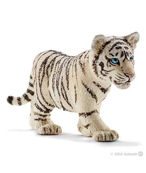 Schleich Figurine 14732 - Animal de la savane - Bébé tigre blanc