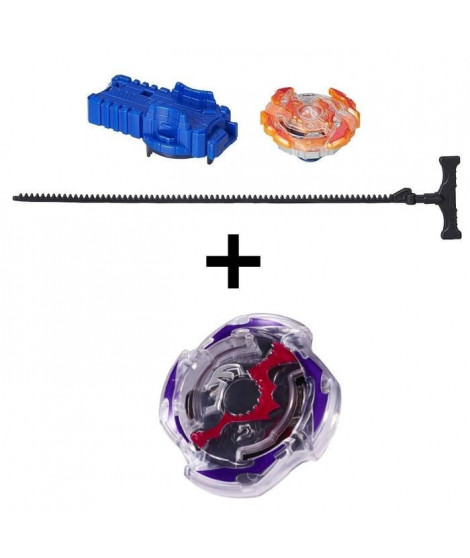 BEYBLADE BURST - Starter Pack ROKTAVOR + Toupie Single Top DOOMSCIZOR