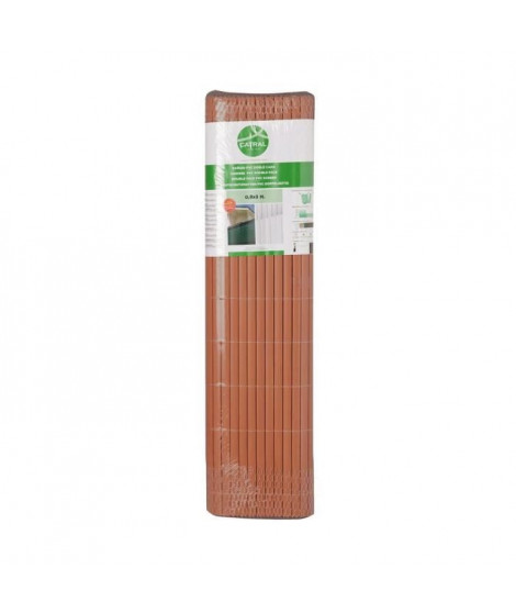 CATRAL Canisse en PVC DF - 20 mm - 0,9 x 3 m - Marron teck