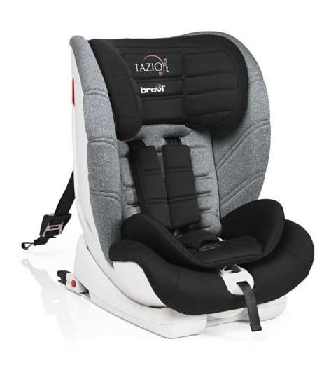 BREVI - Tazio TT avec Top Tether - Siege.auto Groupe 1/2/3 inclinabile (9-36 kg) Noir/gris chiné