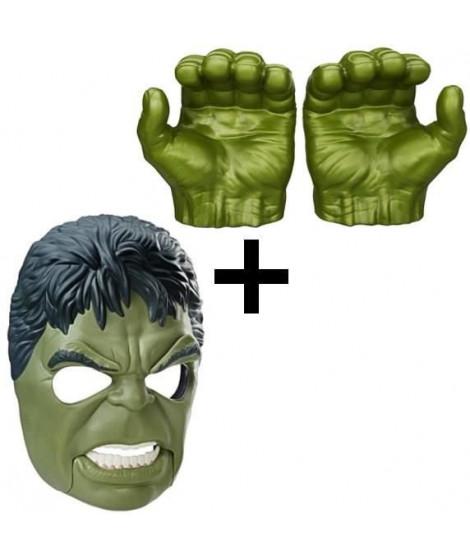 AVENGERS - Masque HULK + Poings Deluxe