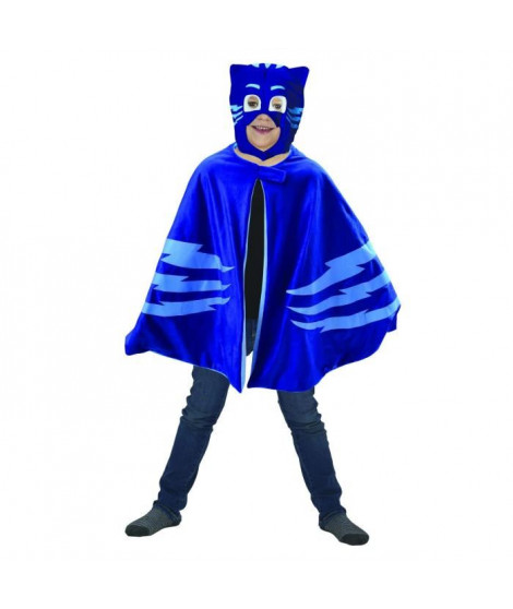 Caritan Pyjamasques deguisement cape-plaid + masque bleu yoyo