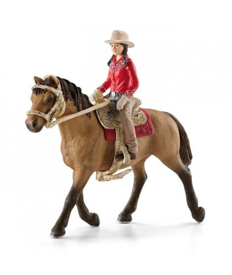 Schleich Figurine 42112 - Cheval - Cavaliere western