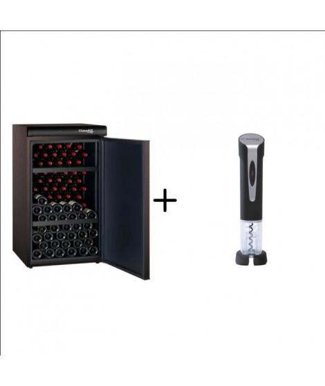 CLIMADIFF CLV122M - Cave a vin de vieillissement - 120 bouteilles + CLIMADIFF TB5029 -Tire-bouchon électrique rechargeable