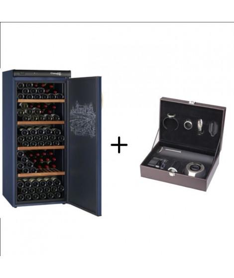 CLIMADIFF CVP180 - Cave a vin de vieillissement - 180 bouteilles + CLIMADIFF PACK6 - Coffret du sommelier - Pack 6 accessoires