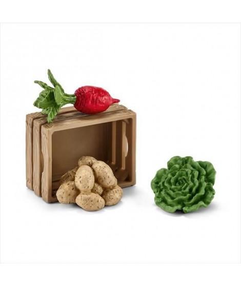 SCHLEICH - Figurine 42289 Nourriture pour cochons et porcelets