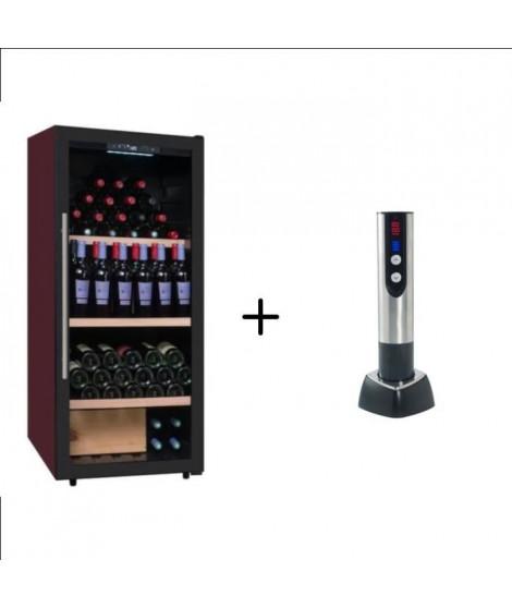 CLIMADIFF CDP159 - Cave a vin polyvalente - 160 bouteilles + CLIMADIFF TB5035 tire bouchon électrique 2 en 1 rechargeable