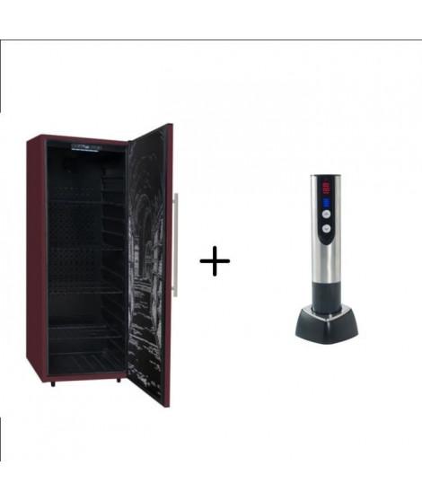 CLIMADIFF CDP204 - Cave a vin polyvalente - 204 bouteilles  + CLIMADIFF TB5035 tire bouchon électrique 2 en 1 rechargeable