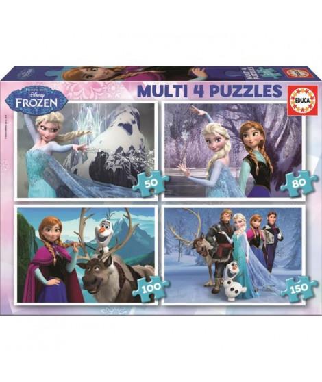 LA REINE DES NEIGES Puzzle Multi 4 en 1