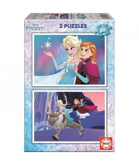 LA REINE DES NEIGES Puzzle 2 x 20 Pieces