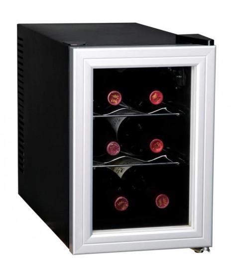 CAVISS- SP16CFMS - Cave de chambrage - 6 bouteilles - Thermostat - Porte verre + contour - Systeme anti vibration - Eclairage