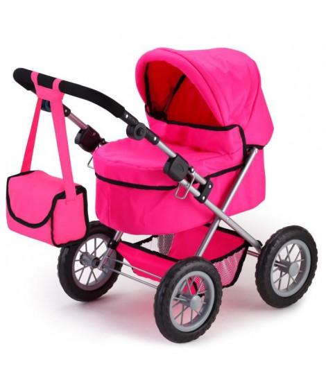 BAYER Poussette Landau Pour Poupée Trendy Uni Rose Pink, Réglable - 68 Cm