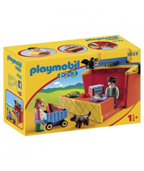 PLAYMOBIL 1.2.3 - 9123 - Marché Transportable