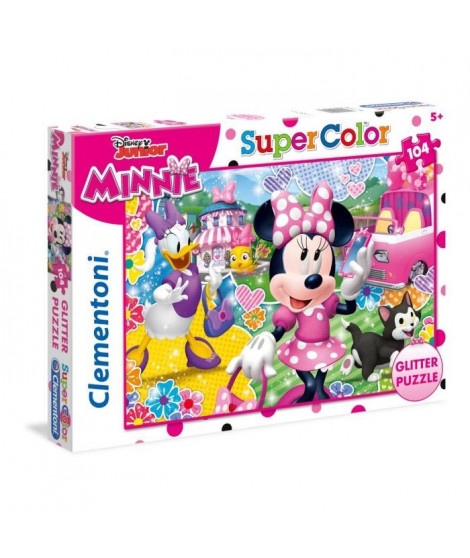 MINNIE Puzzle Scintillant Glitter  104 Pieces