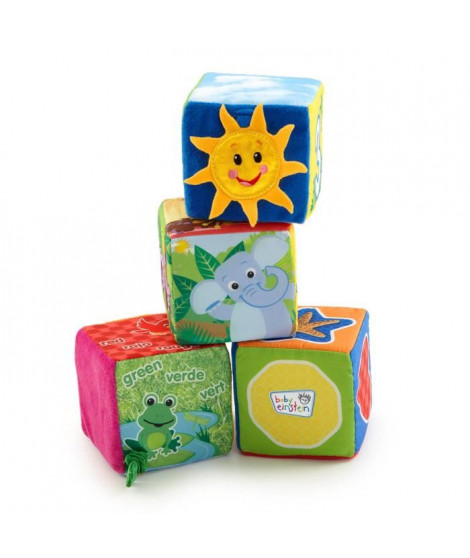 BABY EINSTEIN Cubes en tissu Explore & Discover Soft Blocks - Multicolore