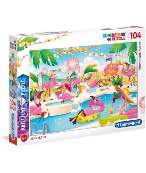 PUZZLE Brilliant 104 pieces - Flamants roses en vacances