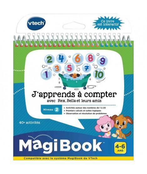 VTECH - Livre Interactif Magibook - J'Apprends a Compter Avec Rex, Bella Et Leurs Amis