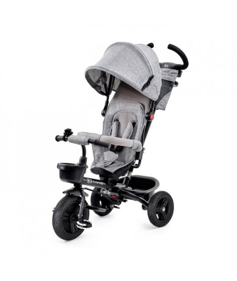 KINDERKRAFT Tricycle AVEO Gris - 3 roues - Evolutif - Pliable